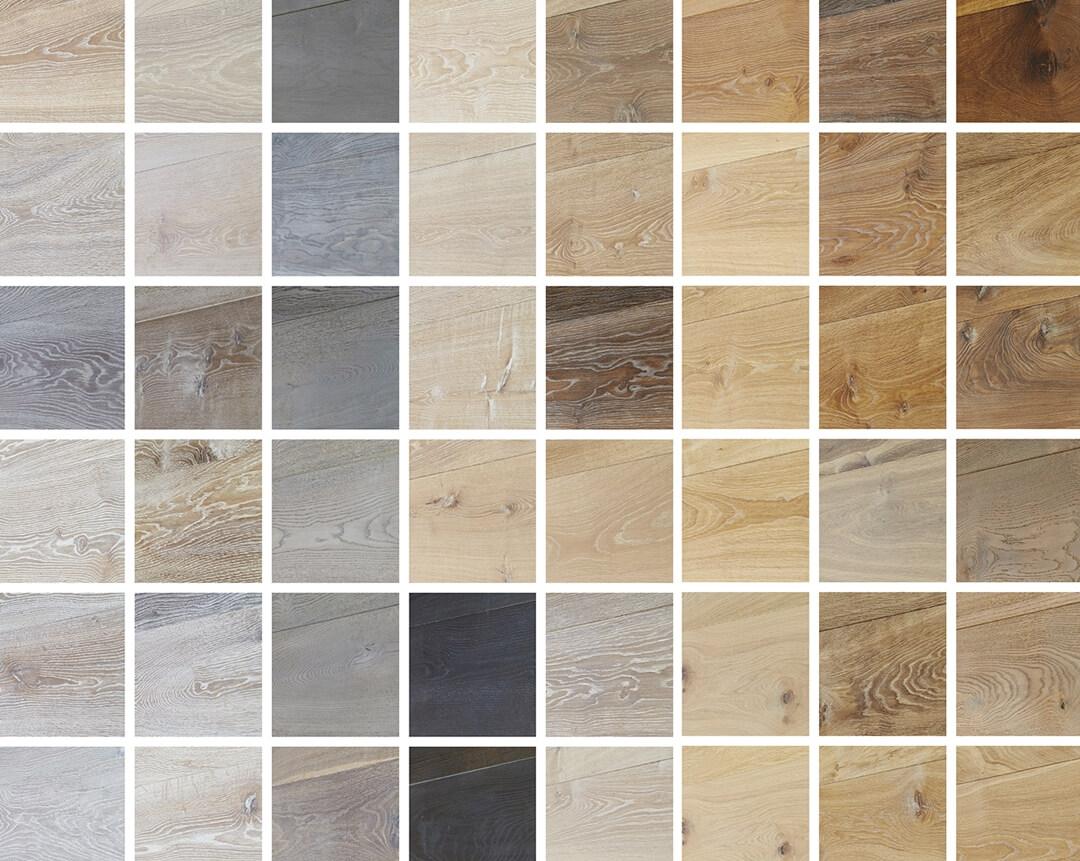 Oak wood flooring colors