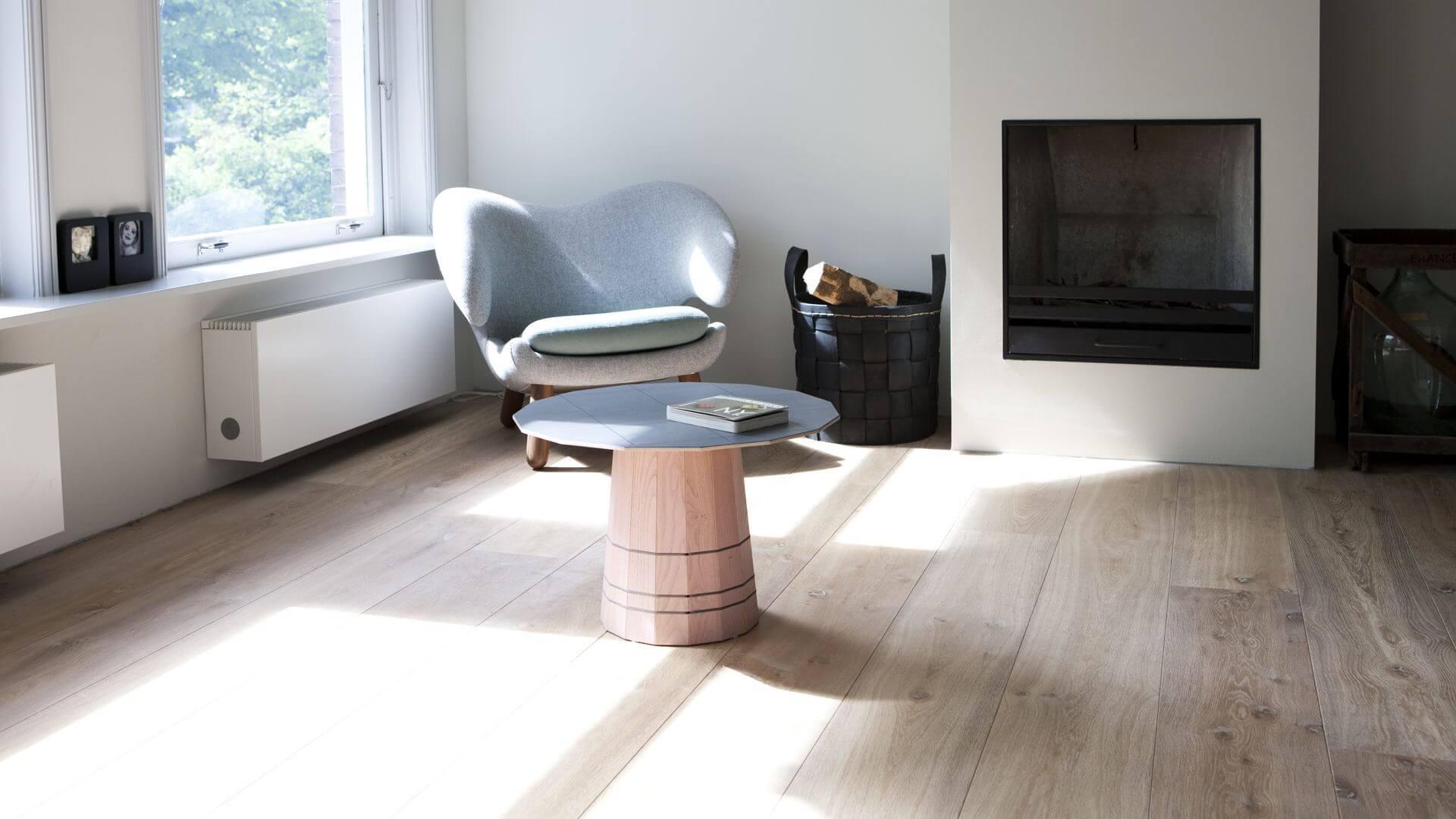 aged oakwood floor in amsterdam