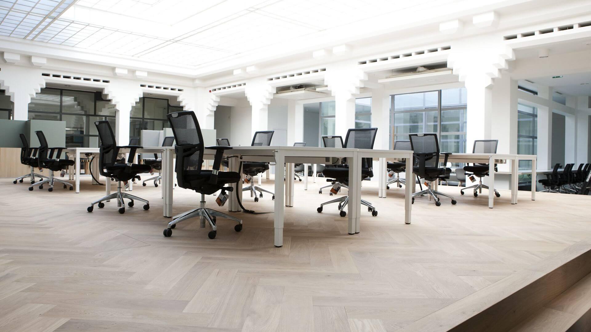 Herringbone office floor Berlage Huis The Hague