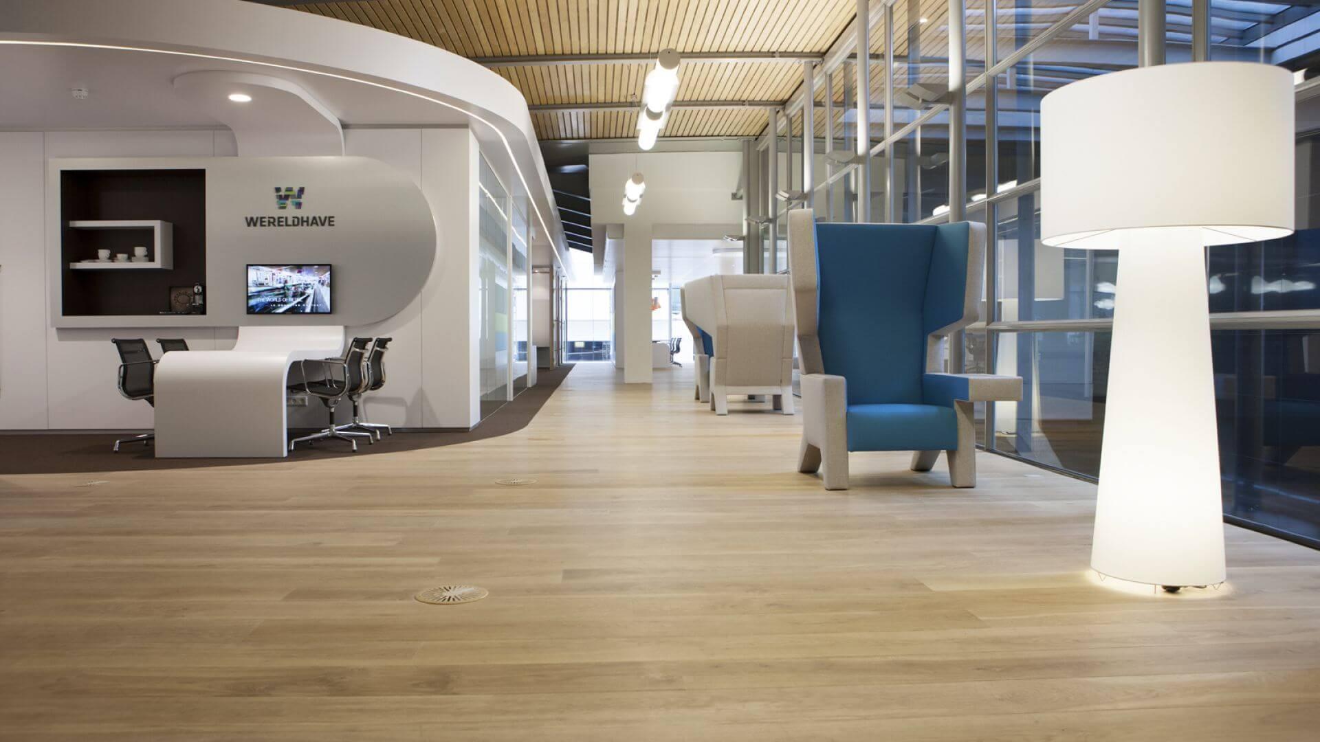 oak wood office floor schiphol wtc the netherlands