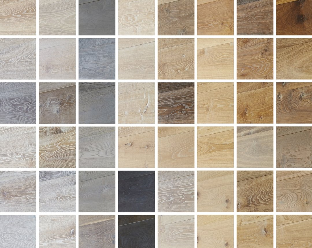 Oak wood flooring colors