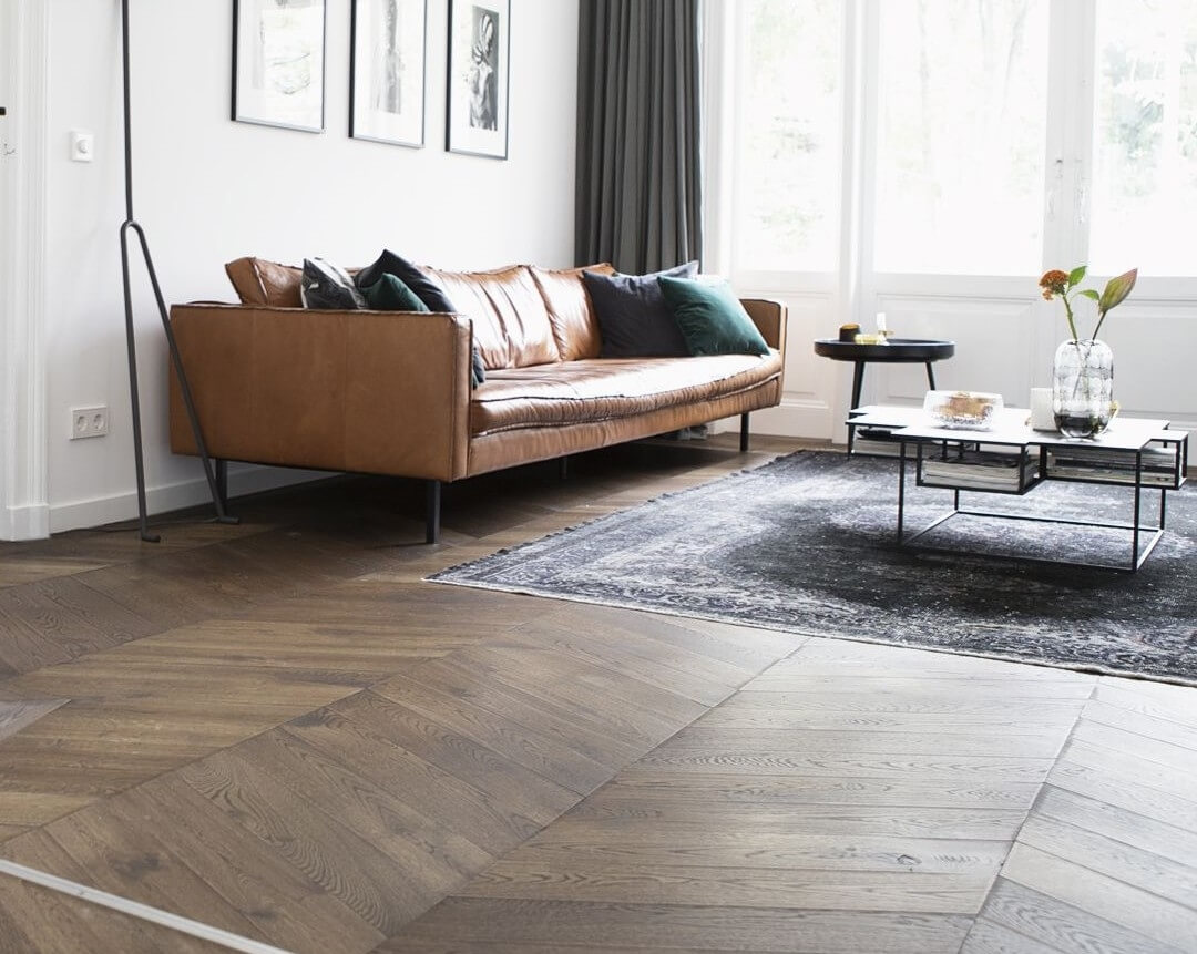 Chevron Pattern Engineered Wood Flooring