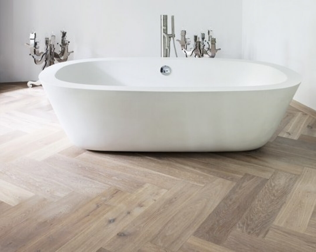 oak wood herringbone