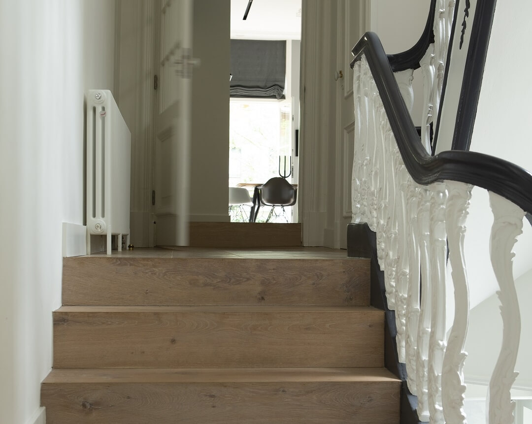 Staircase Renovation with Wooden Steps