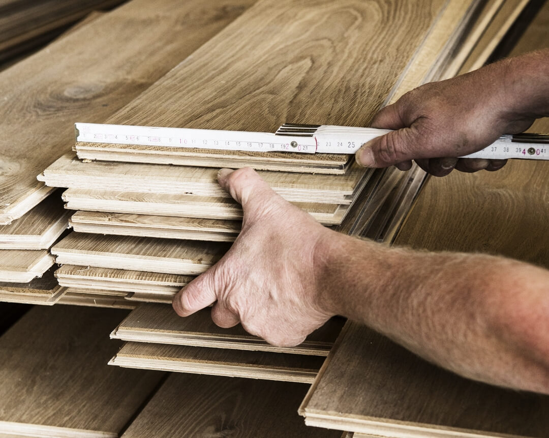 Stack of wood planks