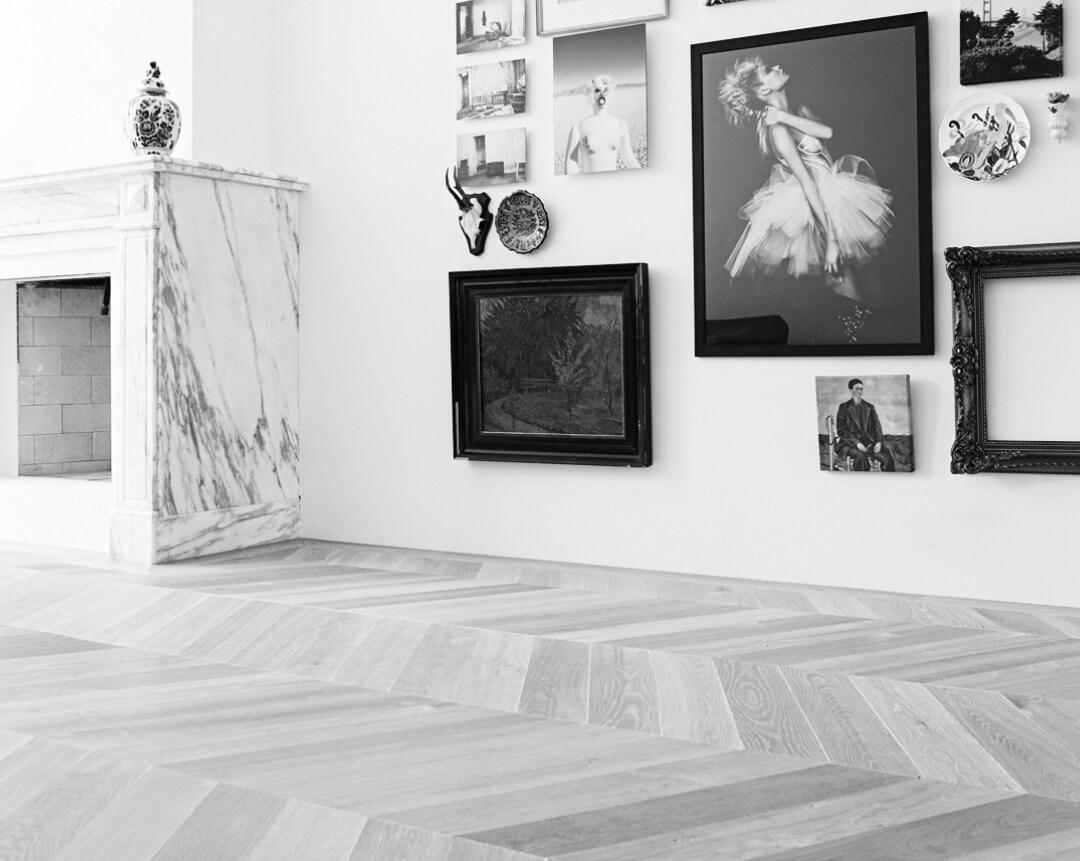 wooden hungarian point floor