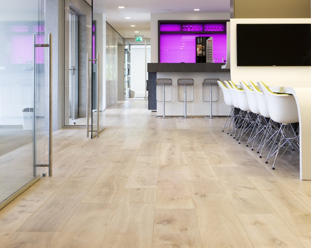 Oak wood office floor Arnhem