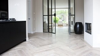 Herringbone Floor - Barbizon White