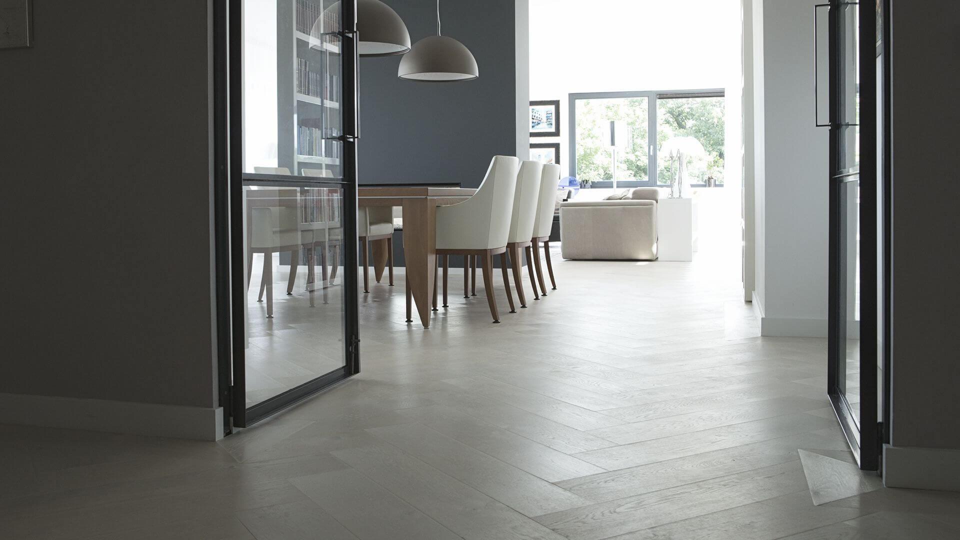 floor heating white wooden floor