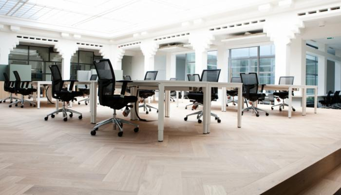herringbone floor office