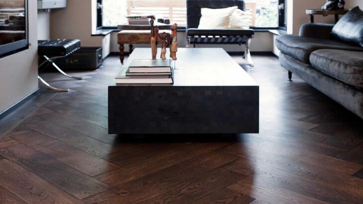 oak wood floor with underfloor heating