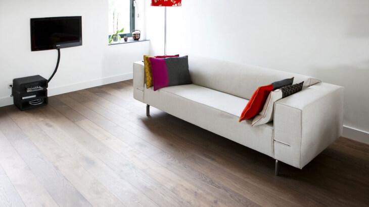 wooden floor with underfloor heating in amsterdam