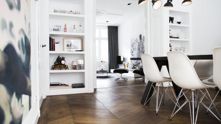brown chevron pattern floor