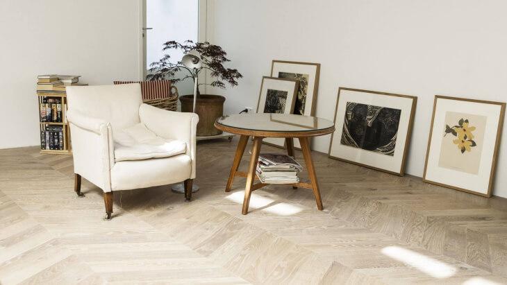 chevron pattern wood flooring in amsterdam