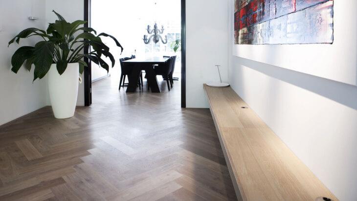 oak herringbone floor amsterdam