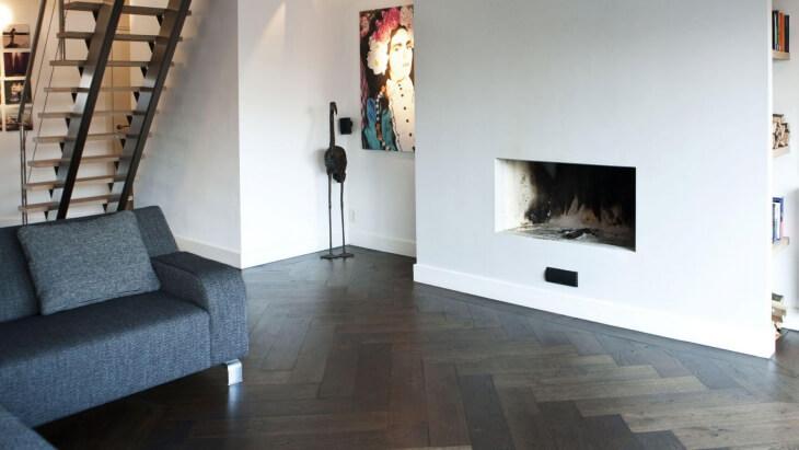 oak herringbone floor in alphen aan den rijn