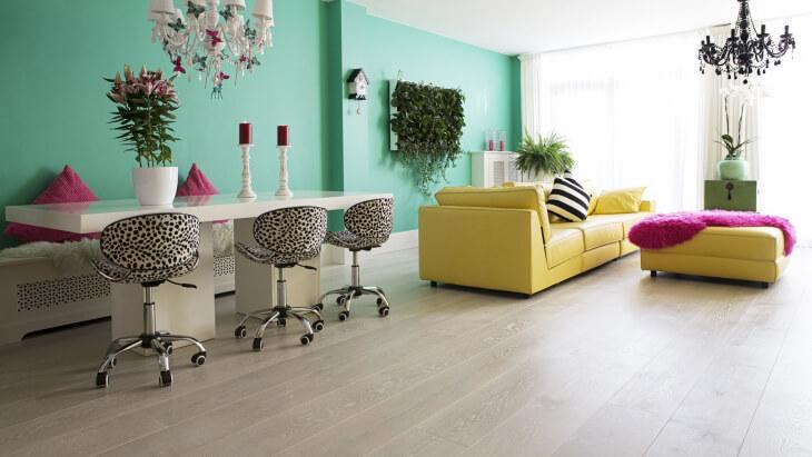 pearl white wood flooring