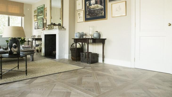versailles pattern wood floor in the hague